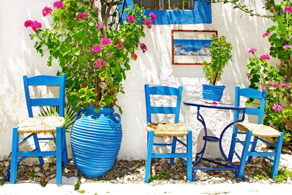 Tuin in Griekse stijl
